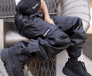 supreme, black, and fashion image