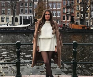 black boots, street style, and fashion image