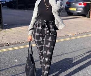 checked pants hijab image