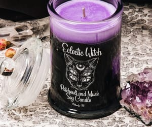 candle, cat, and lilac image