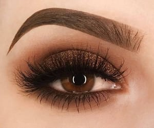 brow, brown eye, and brown eyes image