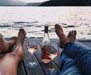 couple, wine, and outfit image