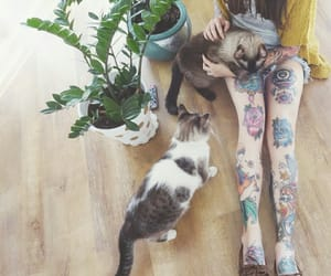 alternative, animals, and girl with tattoos image