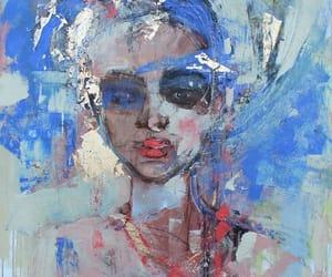 blue, painting, and magdalena morey image