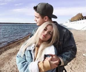 couple, cute, and hug image