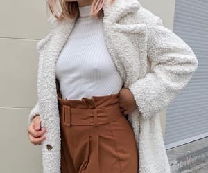 coat, outfit, and fashion style image