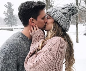 couple, winter, and cute image
