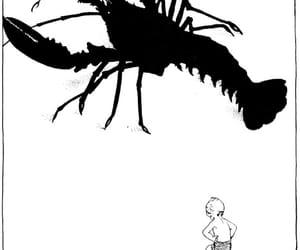art, black and white, and illustration image