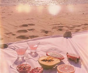 beach, fruit, and food image