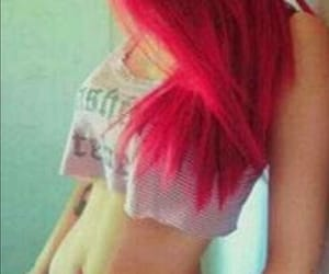 hip bones, red hair, and thinspo image