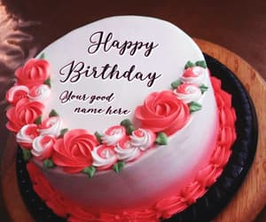 my name on pics and bday cake with name edit image
