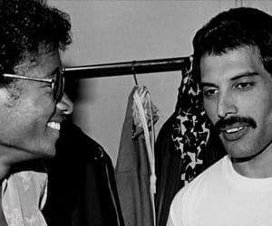 michael jackson, Queen, and Freddie Mercury image