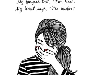 broken, girl, and quotes image