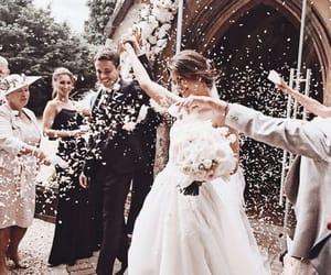 groom, wedding, and bride image