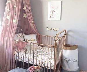 girl, pink, and baby image