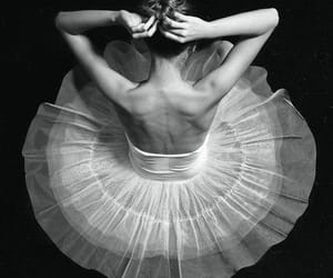 ballerina, black and white, and dancer image