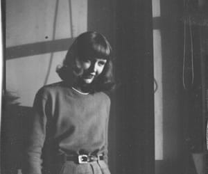black and white, girl, and sylvia plath image