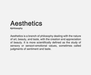 aesthetic, definition, and quotes image