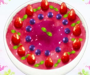 blueberry, dessert, and strawberry image