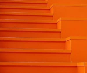 aesthetic, orange, and stairs image