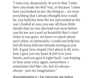 fading, missing you, and quote image