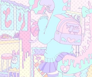 aesthetic, anime, and pastel image
