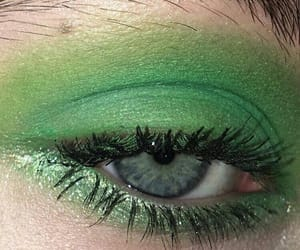 green, aesthetic, and makeup image