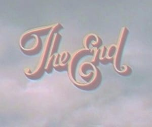 the end, end, and vintage image