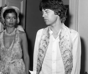 1973, bianca jagger, and david bowie image