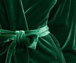 green, velvet, and dress image