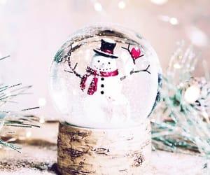 christmas, decor, and snowglobe image