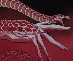 red, snake, and aesthetic image