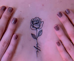 rose, roses, and tattoo image
