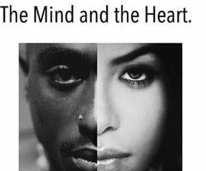 2pac, aaliyah, and heart image
