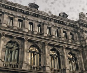 avenue, rain, and building image