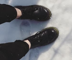 black, martens, and shoes image