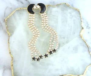 etsy, star earrings, and moon star earrings image