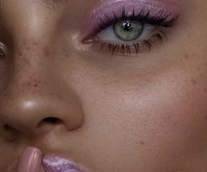 eyes, pink, and beauty image
