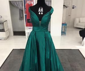prom dresses, evening dress green, and emerald prom dress image