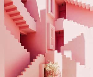 architecture, house, and millennial pink image