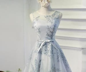 grey prom dress, prom dress short, and homecoming dresses lace image