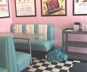 pink, diner, and pastel image