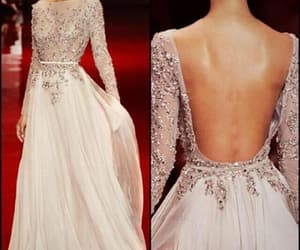 backless prom dress, sexy evening dress, and a-line prom dress image