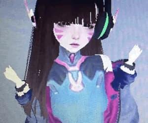 gif, imvu, and cyber girl image
