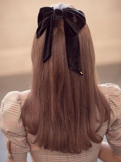 bow, hair, and ribbon image