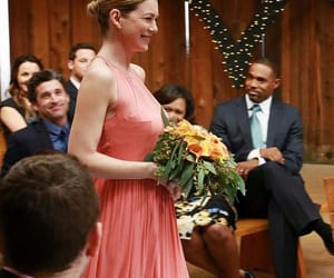 bridesmaid, flowers, and greys anatomy image