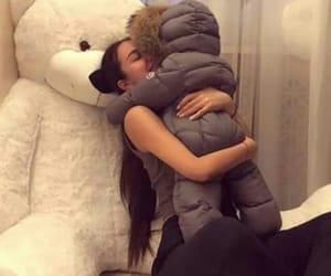 baby, mummy, and teddy bear image