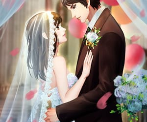anime, wedding, and castle image