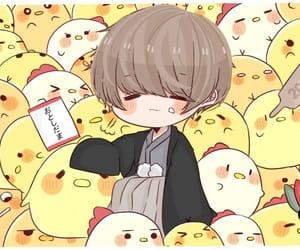 adorable, chibi anime, and yellow theme image