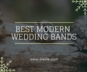modern wedding bands and classic wedding bands image